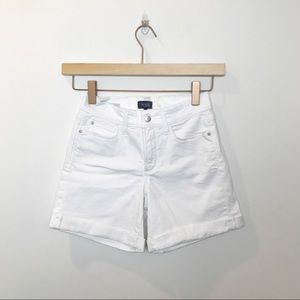 NYDJ | White Avery Jean Shorts w/ lift tuck tech